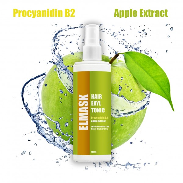 Elmask Apple Extract Natural Regrowth Hair Exyl Hair Tonic for Men and Women